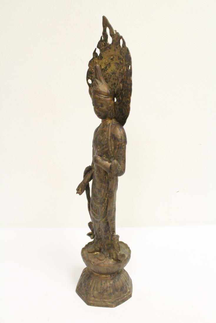 A vintage bronze sculpture of Buddha - 9