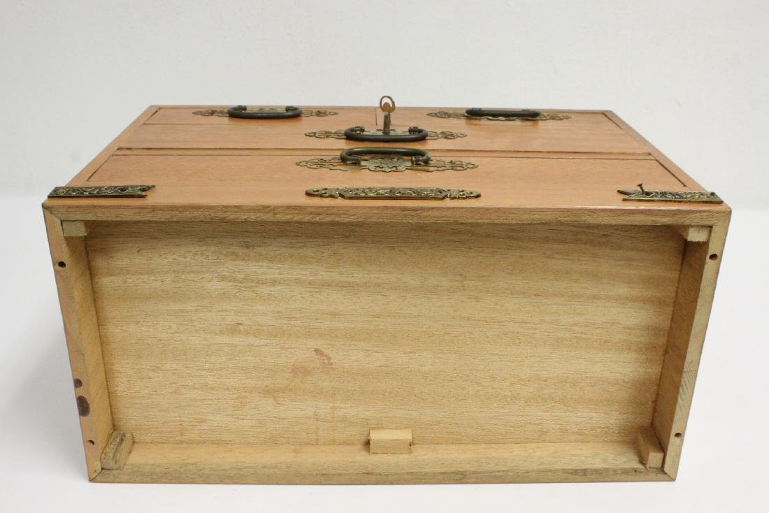 Chinese rosewood miniature chest - 10