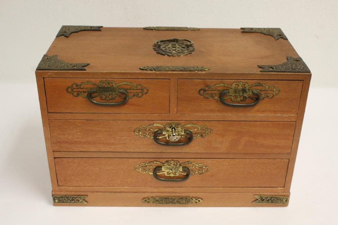 Chinese rosewood miniature chest