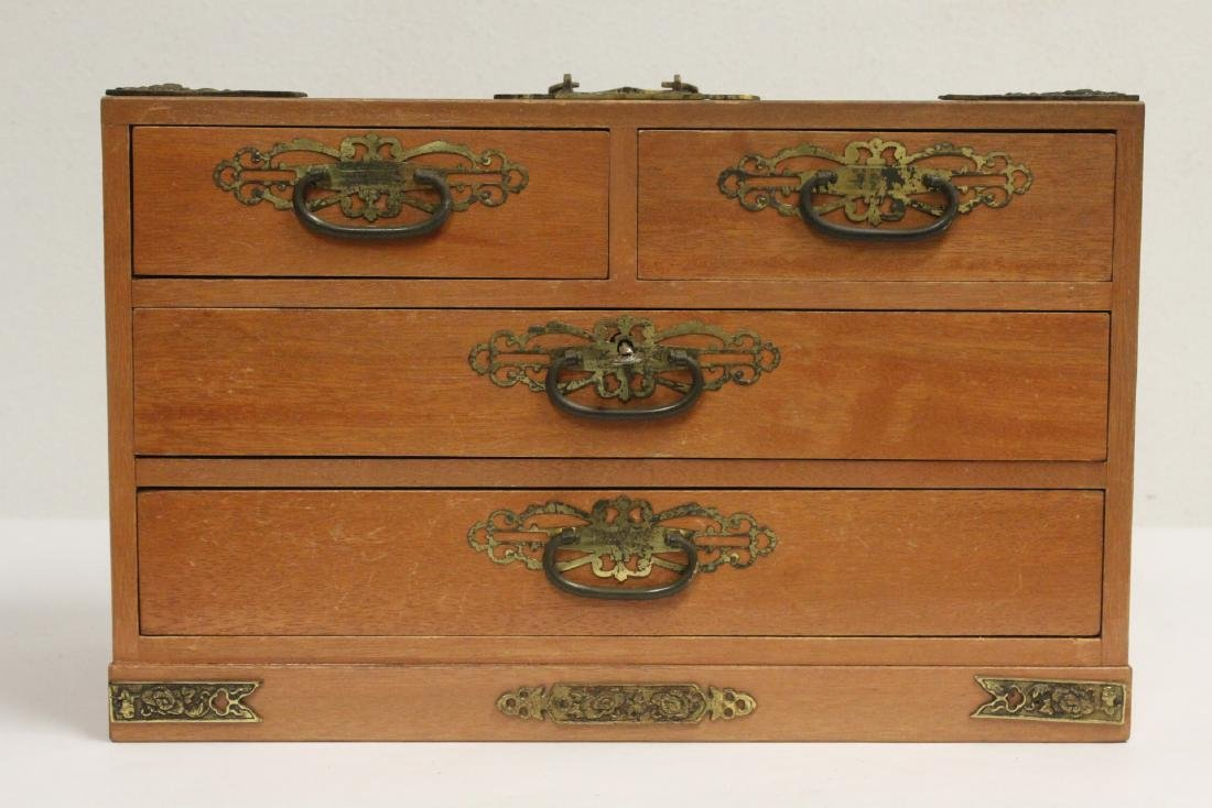 Chinese rosewood miniature chest - 2