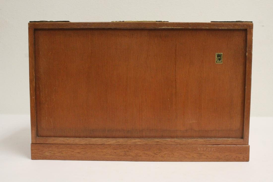 Chinese rosewood miniature chest - 4