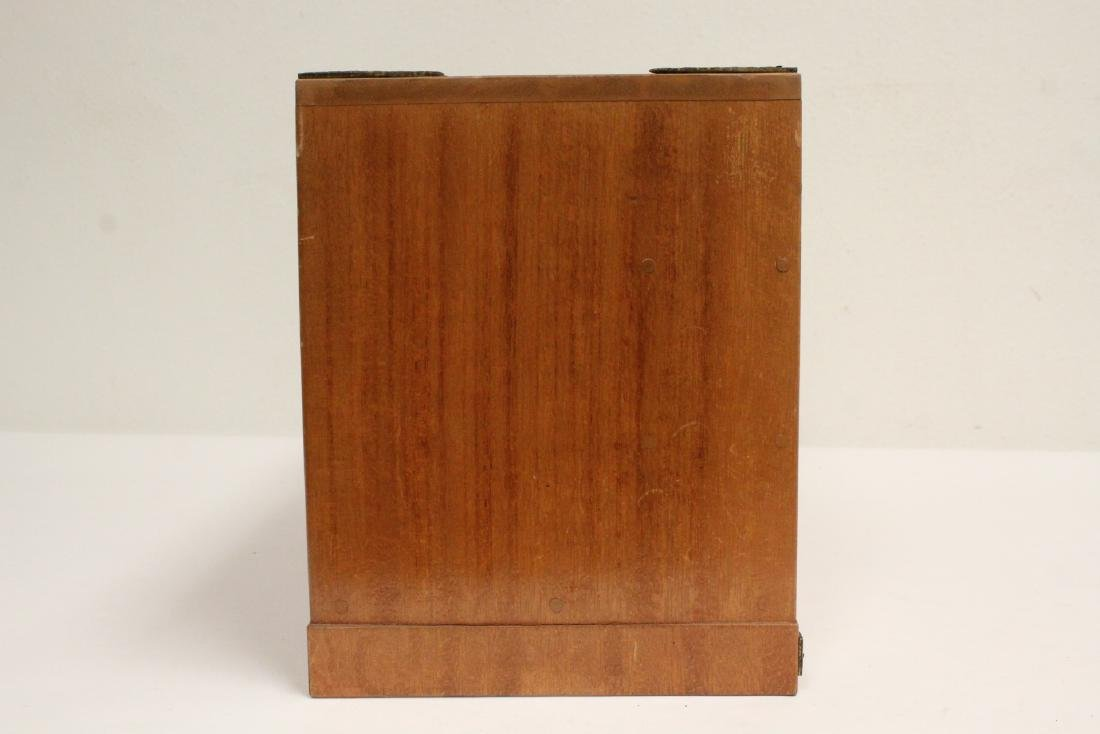 Chinese rosewood miniature chest - 5