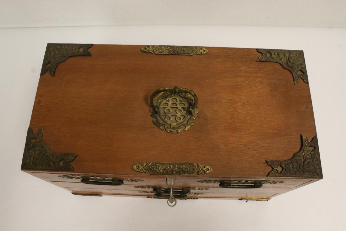 Chinese rosewood miniature chest - 6