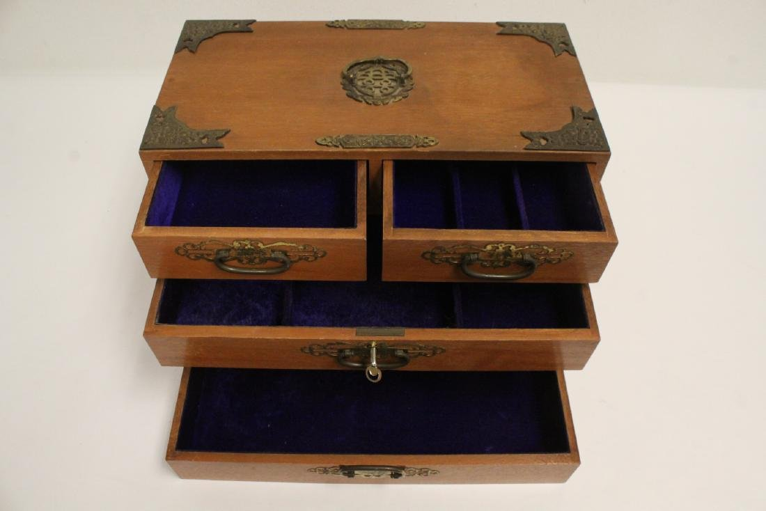 Chinese rosewood miniature chest - 7