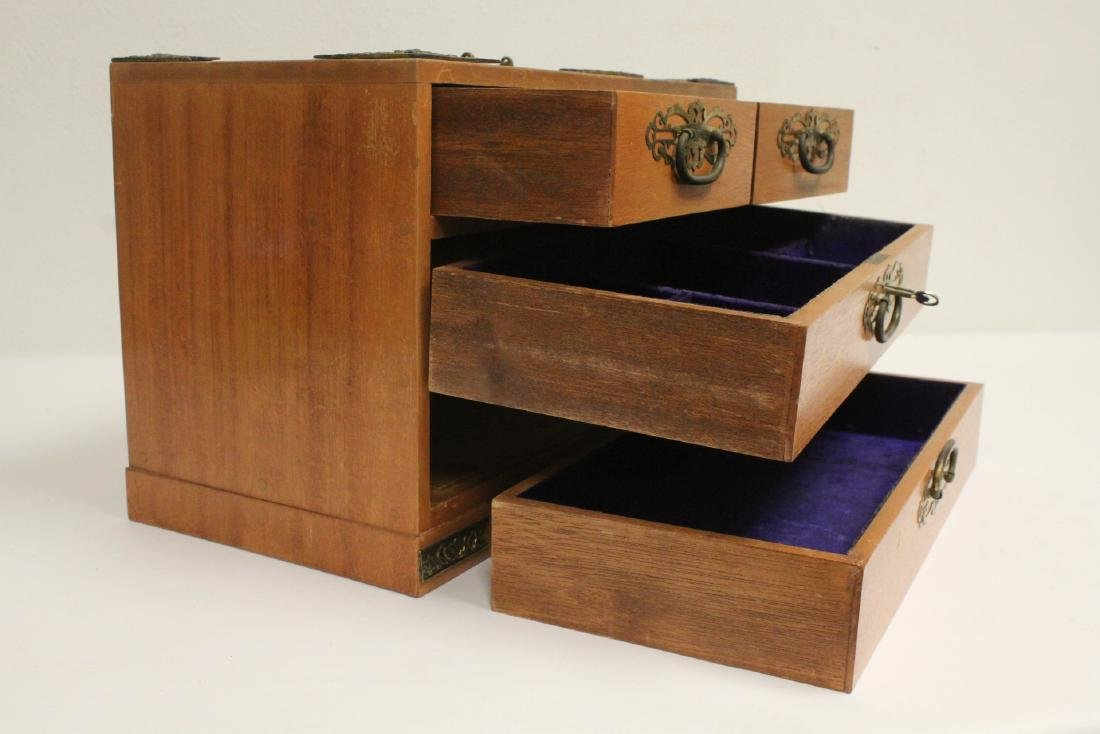 Chinese rosewood miniature chest - 9