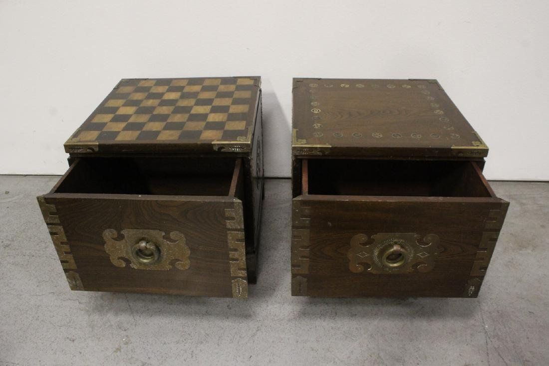 2 Chinese rosewood stands - 3