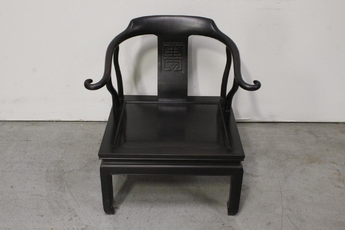 Chinese hardwood armchair - 3