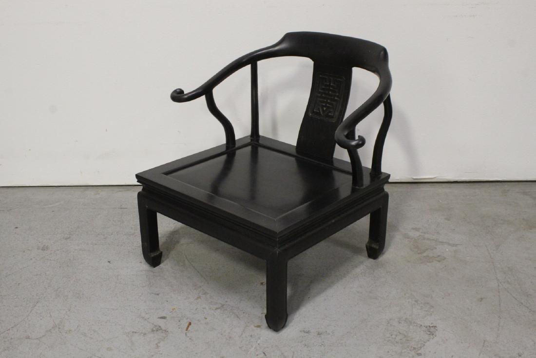 Chinese hardwood armchair - 4