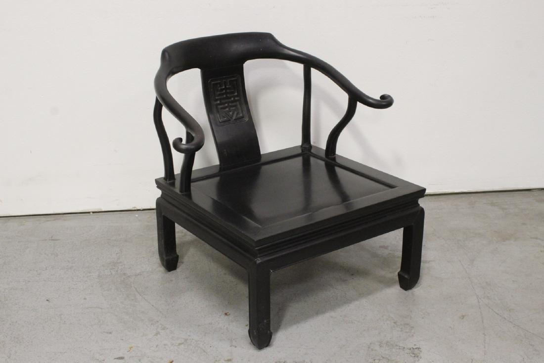 Chinese hardwood armchair - 5
