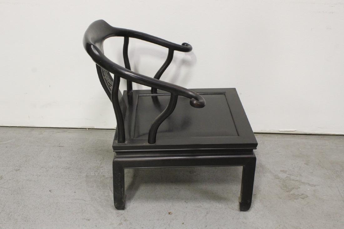 Chinese hardwood armchair - 6