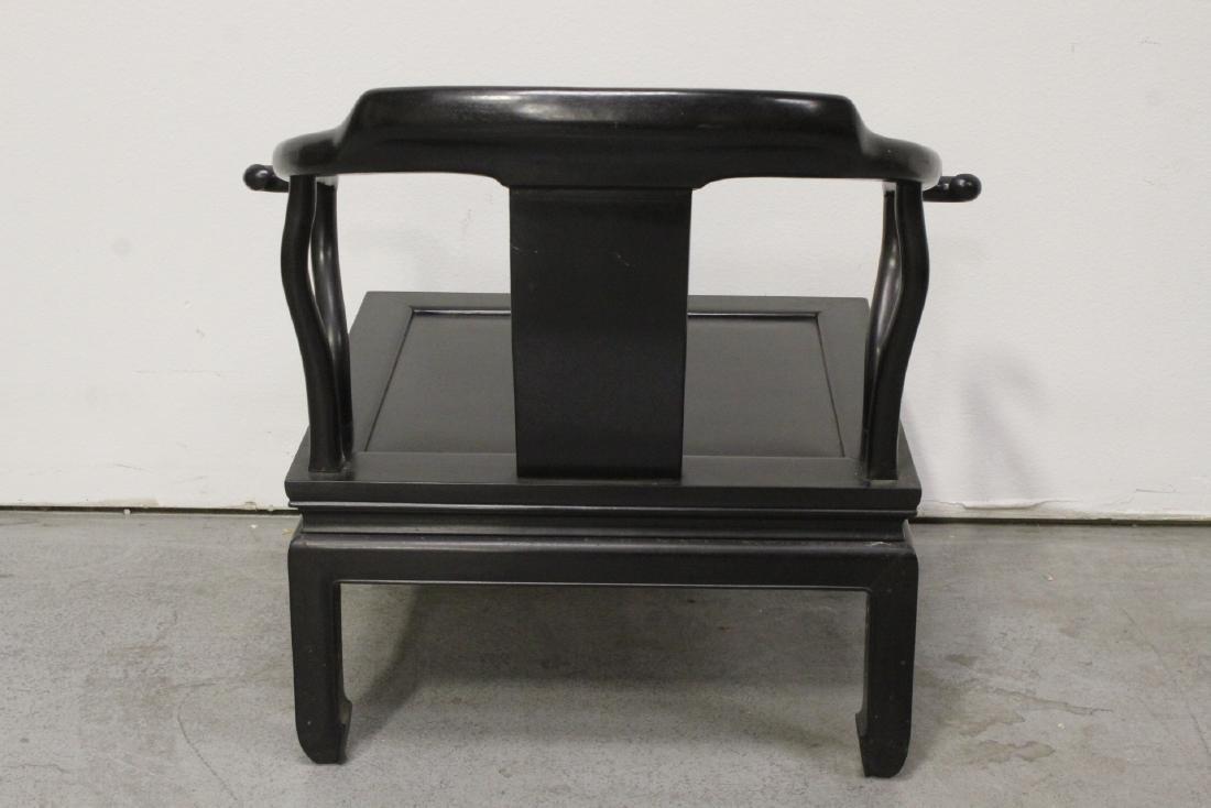Chinese hardwood armchair - 7