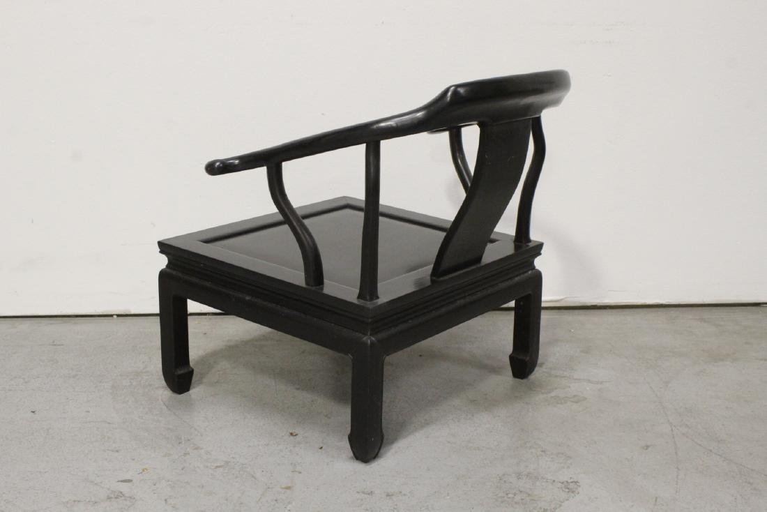 Chinese hardwood armchair - 8