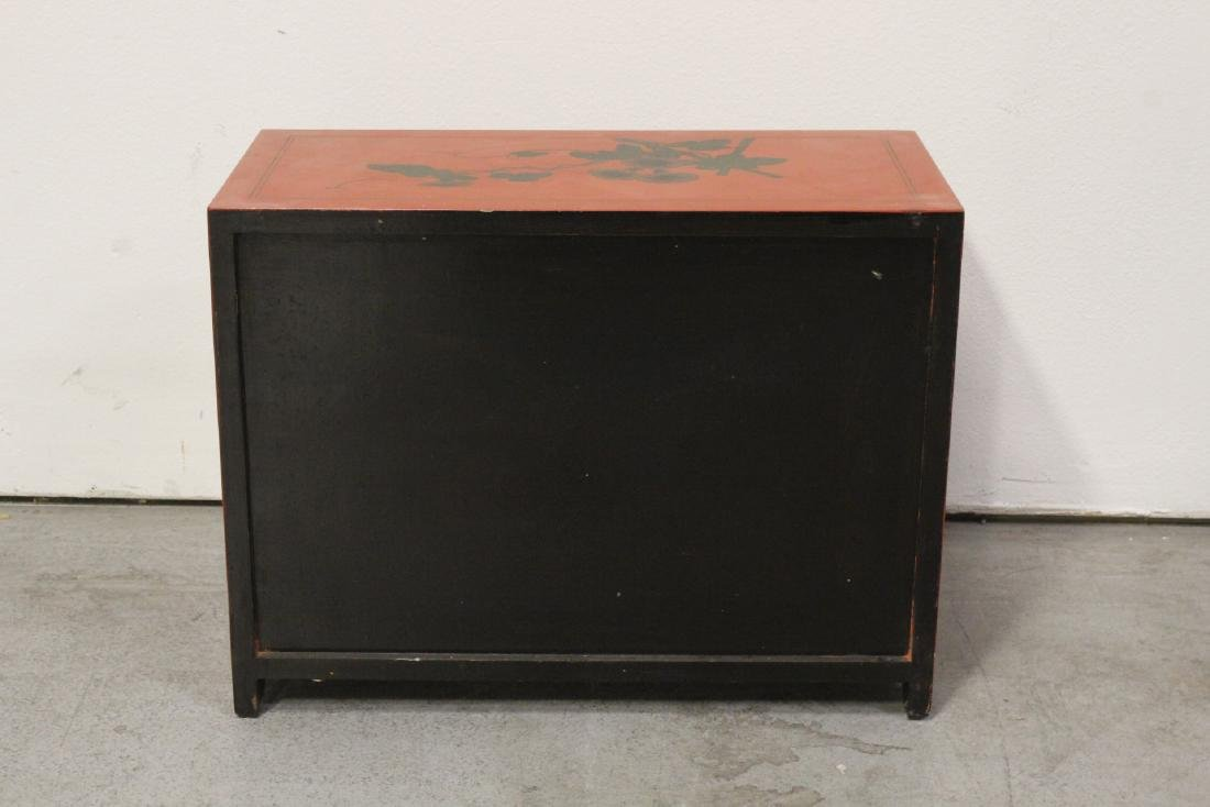 Chinese red lacquer miniature chest - 8