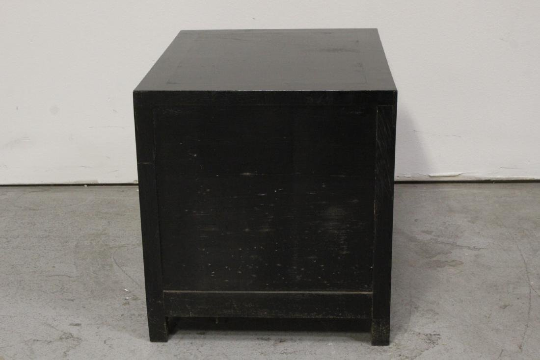 Chinese hardwood cabinet with carved panel - 9