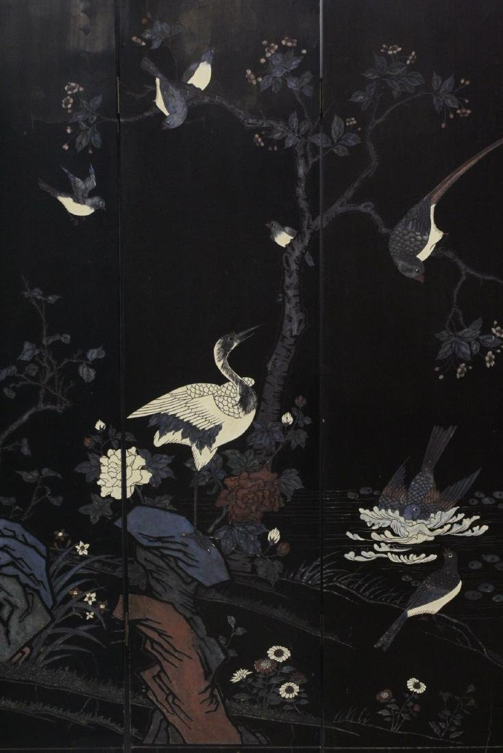 Chinese 6-panel coromandel room divider - 3