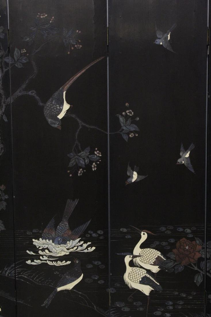 Chinese 6-panel coromandel room divider - 4