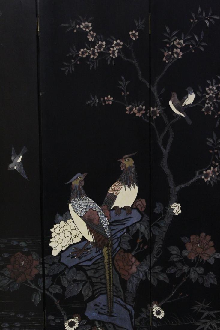 Chinese 6-panel coromandel room divider - 5