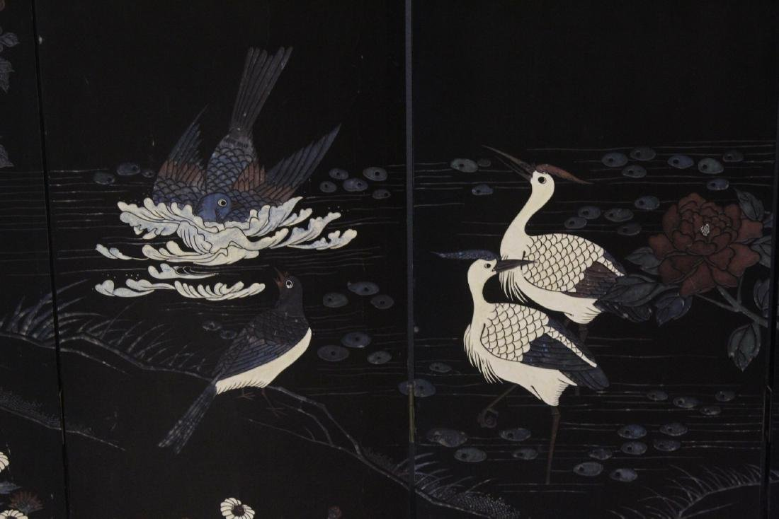 Chinese 6-panel coromandel room divider - 6