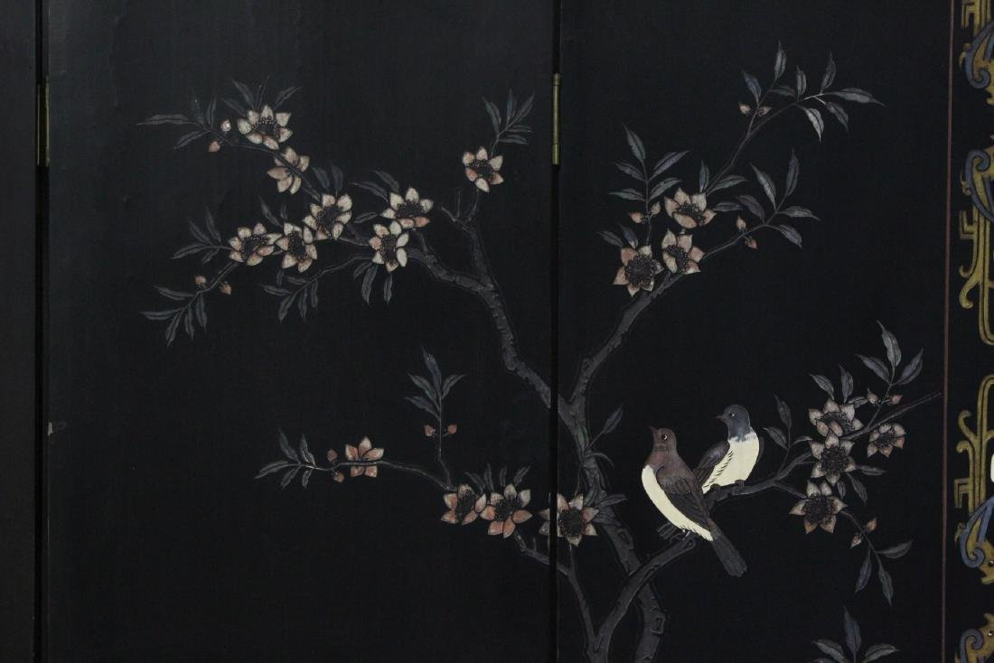 Chinese 6-panel coromandel room divider - 9