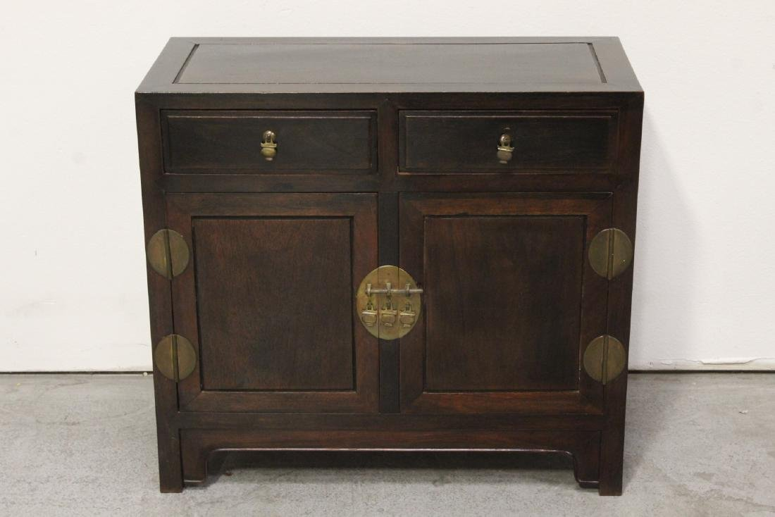 A fine Chinese early 20th century rosewood cabinet