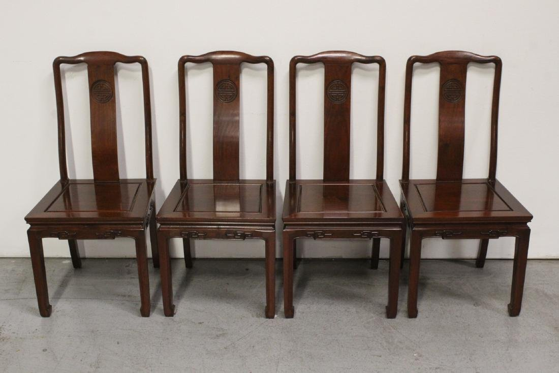 Very nice Chinese 5 piece rosewood dining set - 10