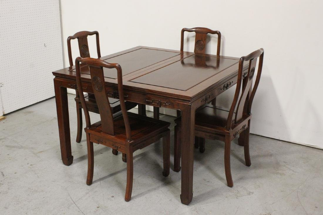 Very nice Chinese 5 piece rosewood dining set