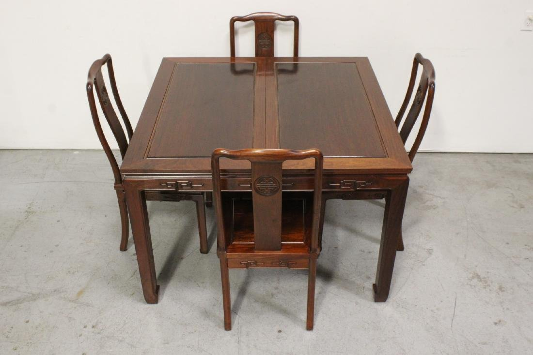 Very nice Chinese 5 piece rosewood dining set - 2
