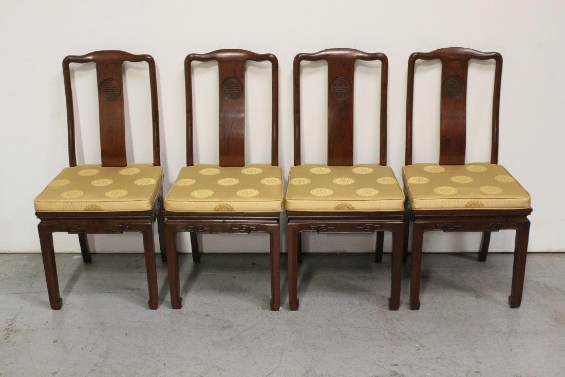 Very nice Chinese 5 piece rosewood dining set - 9