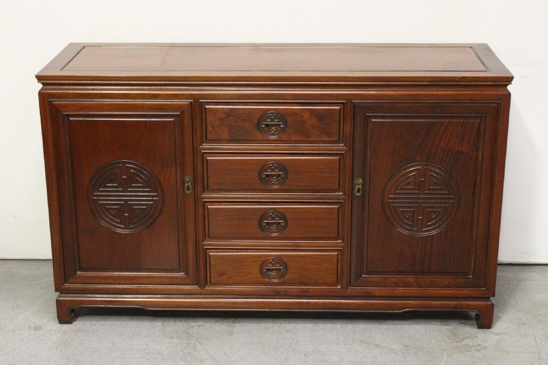 Fine Chinese rosewood cabinet