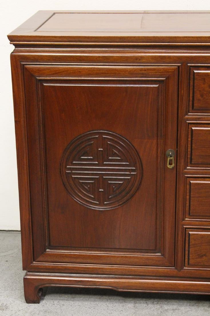 Fine Chinese rosewood cabinet - 5