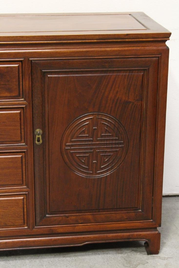 Fine Chinese rosewood cabinet - 6