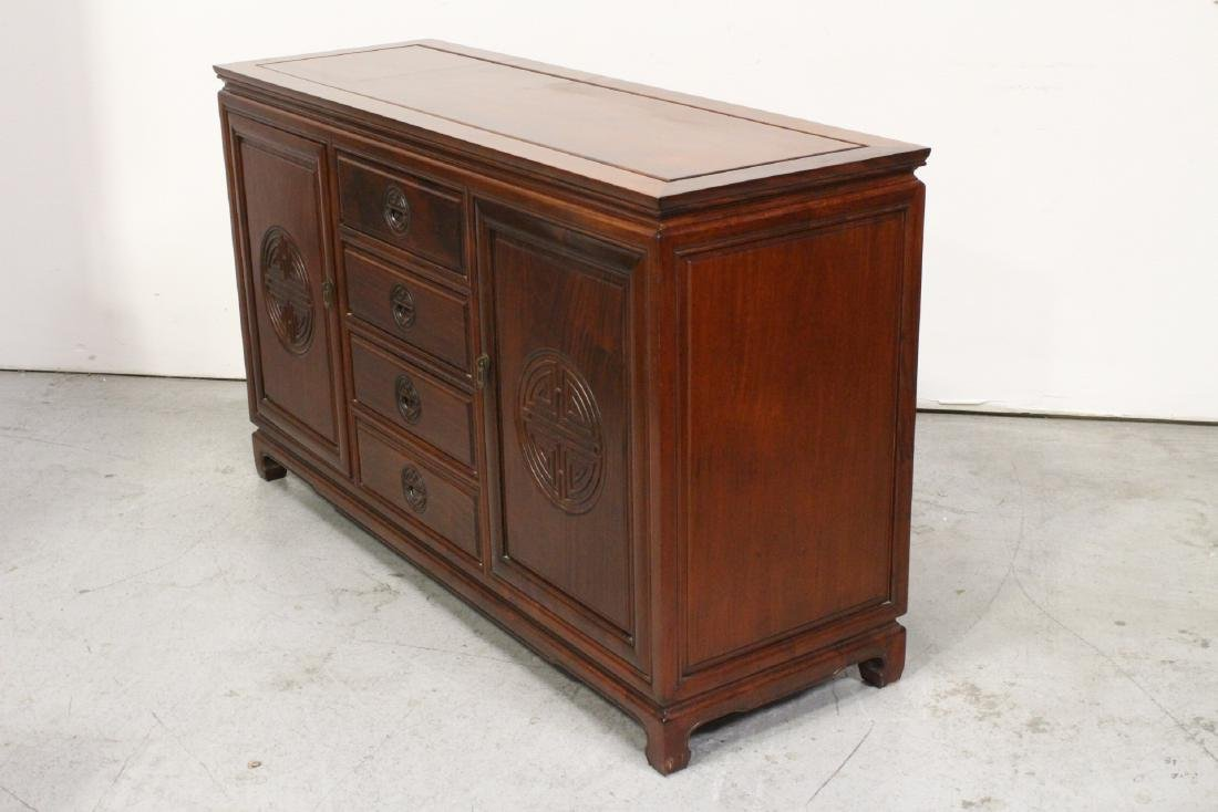 Fine Chinese rosewood cabinet - 7