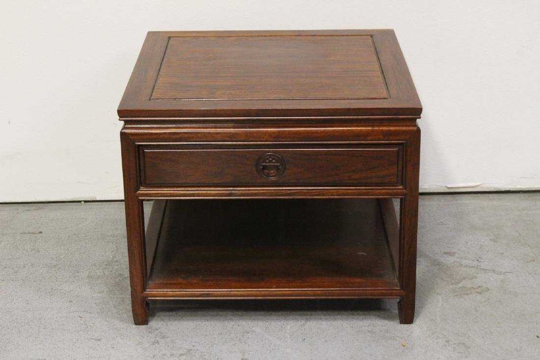 Chinese rosewood square low table