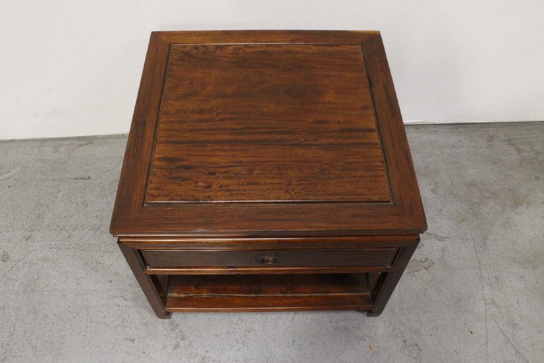 Chinese rosewood square low table - 2