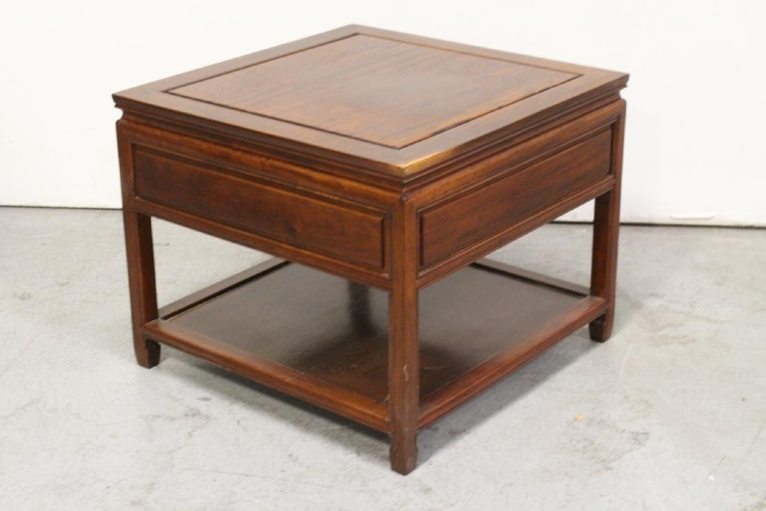 Chinese rosewood square low table - 6