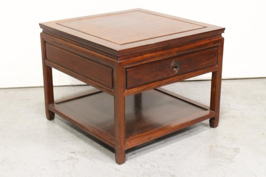 Chinese rosewood square low table - 8