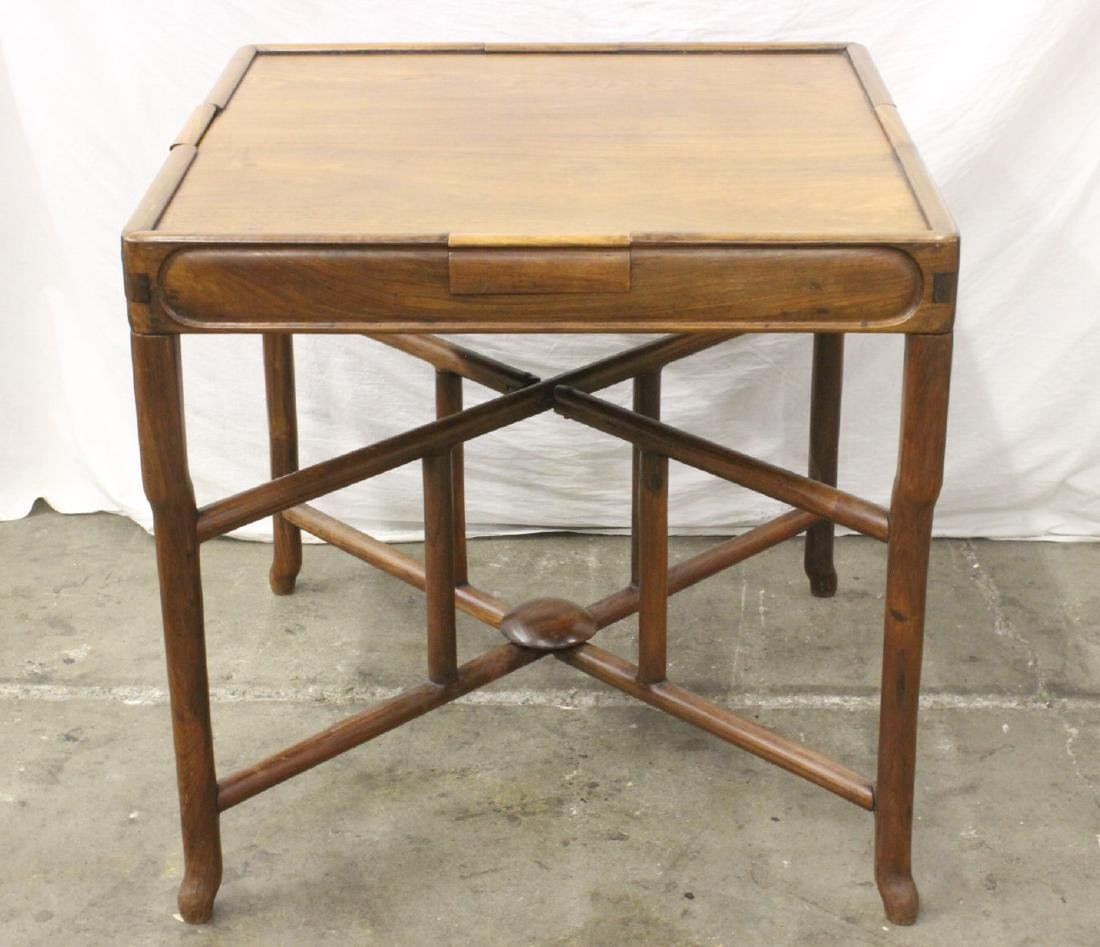 Chinese antique rosewood mahjong table with drawers