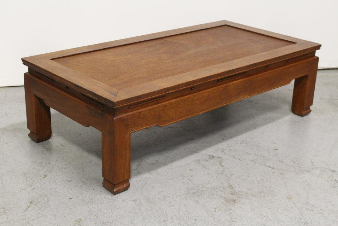 Chinese rosewood rectangular coffee table - 8