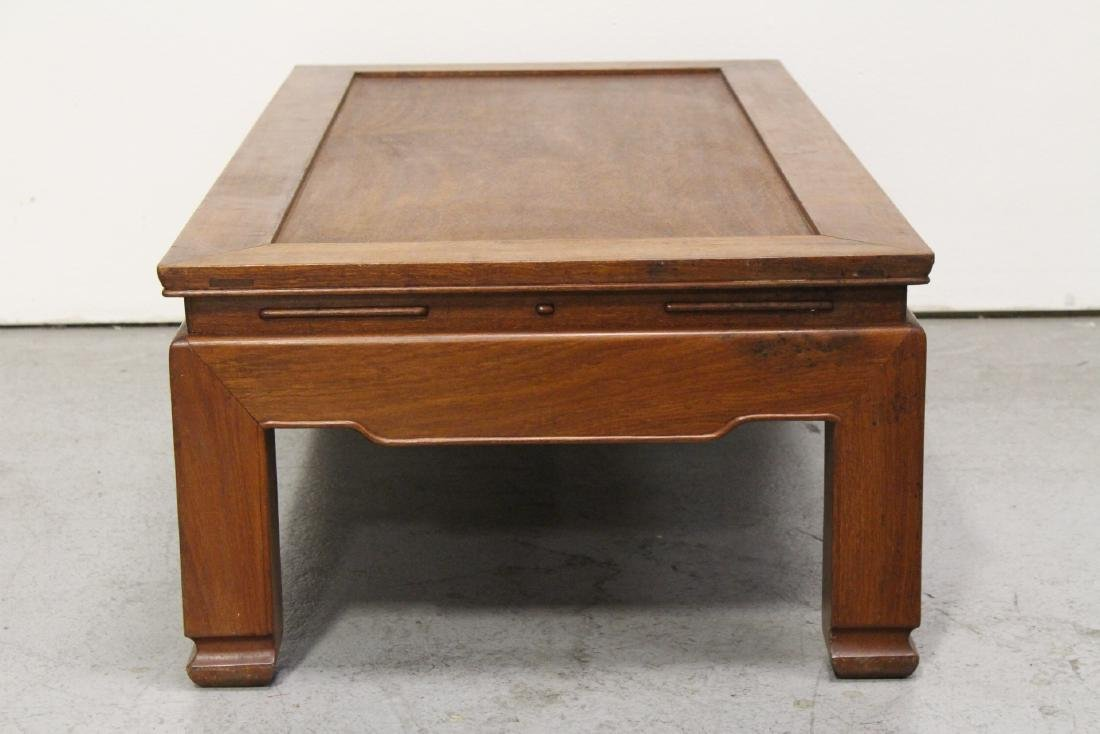 Chinese rosewood rectangular coffee table - 9