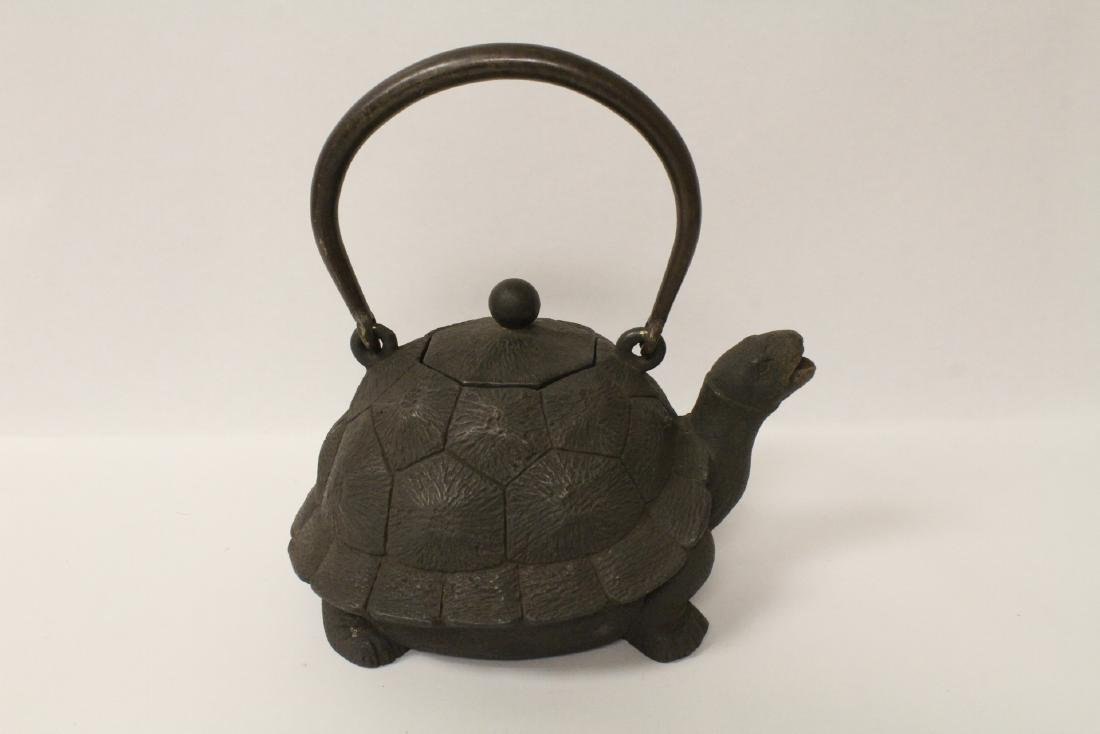 Chinese cast iron teapot in the form of turtle