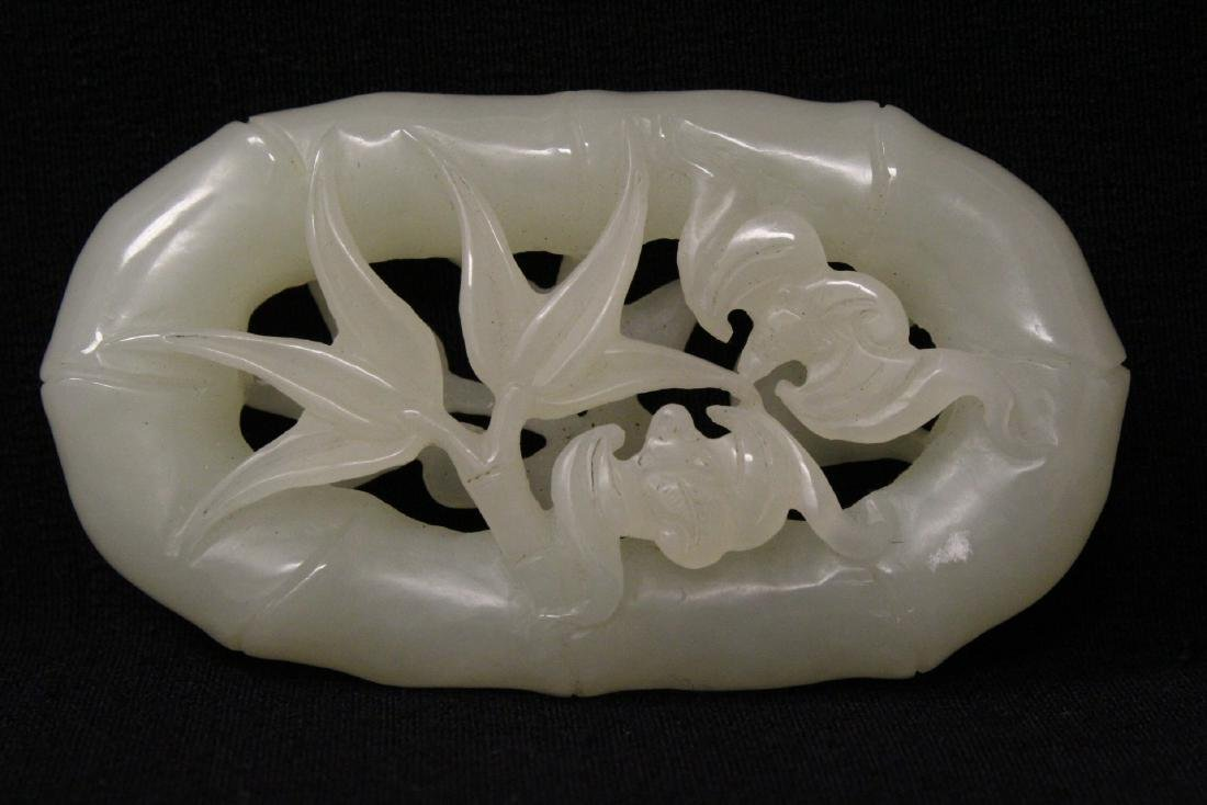 Chinese white jade carved ornament - 2
