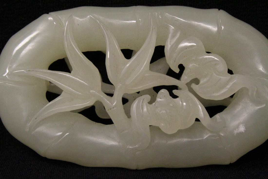 Chinese white jade carved ornament - 3
