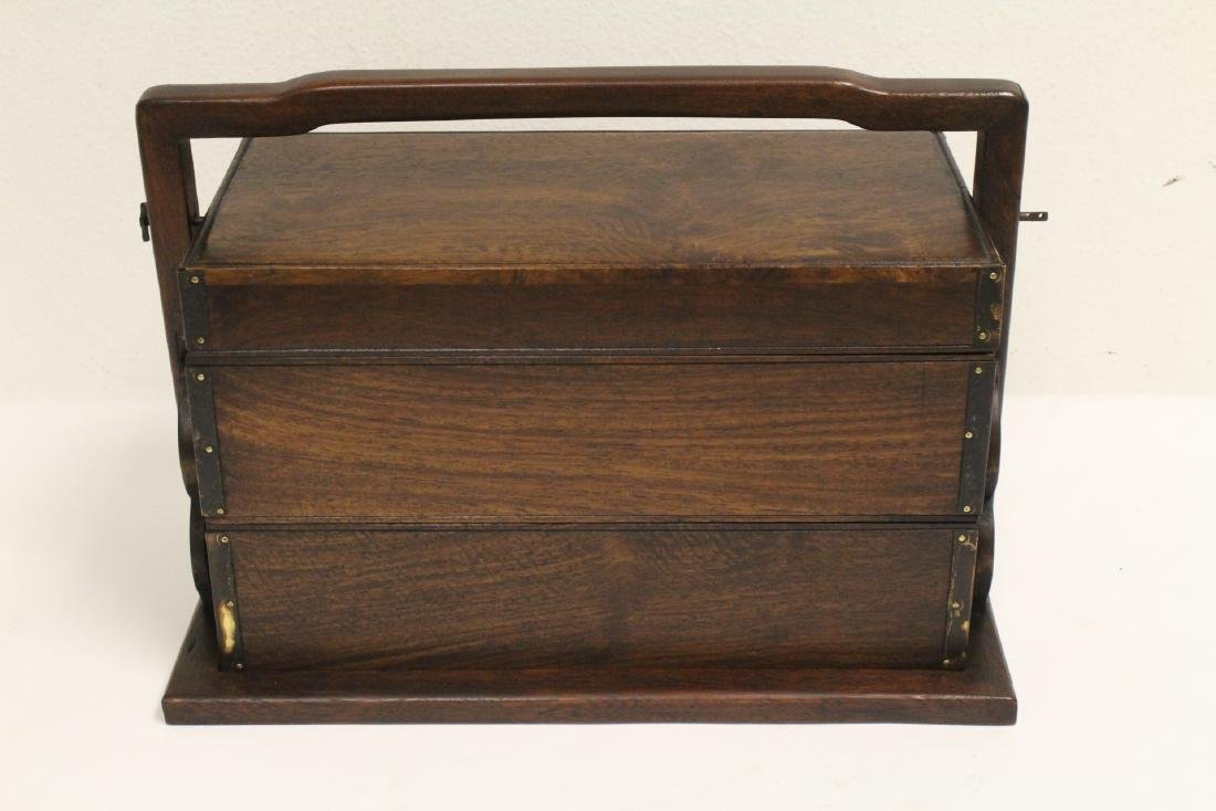 Chinese possible hunghuali wood book chest