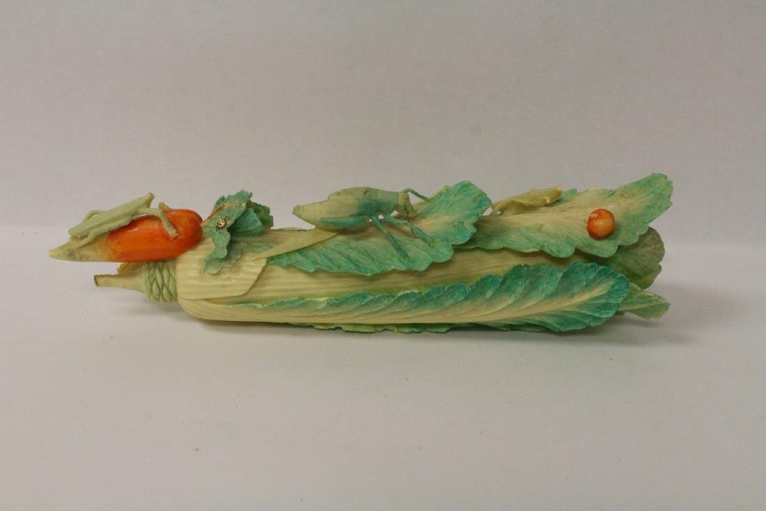 A bone carved cabbage