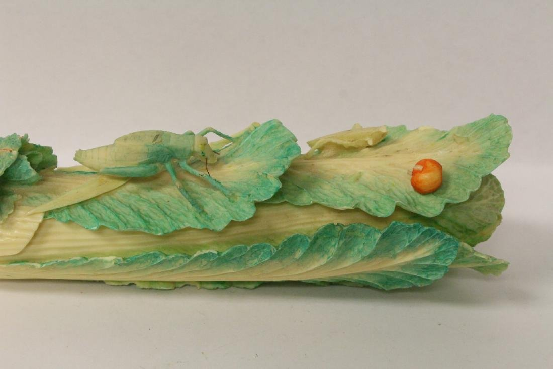 A bone carved cabbage - 4