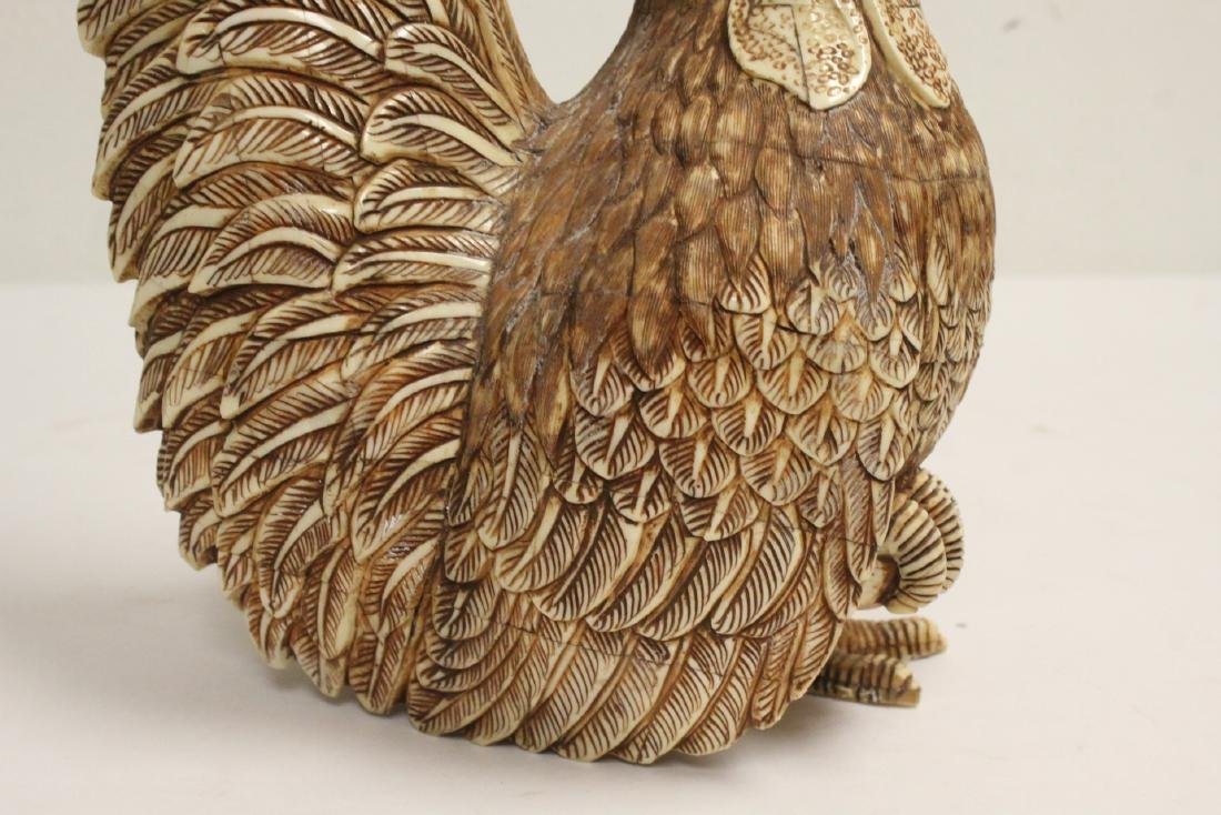 A bone carved rooster - 9