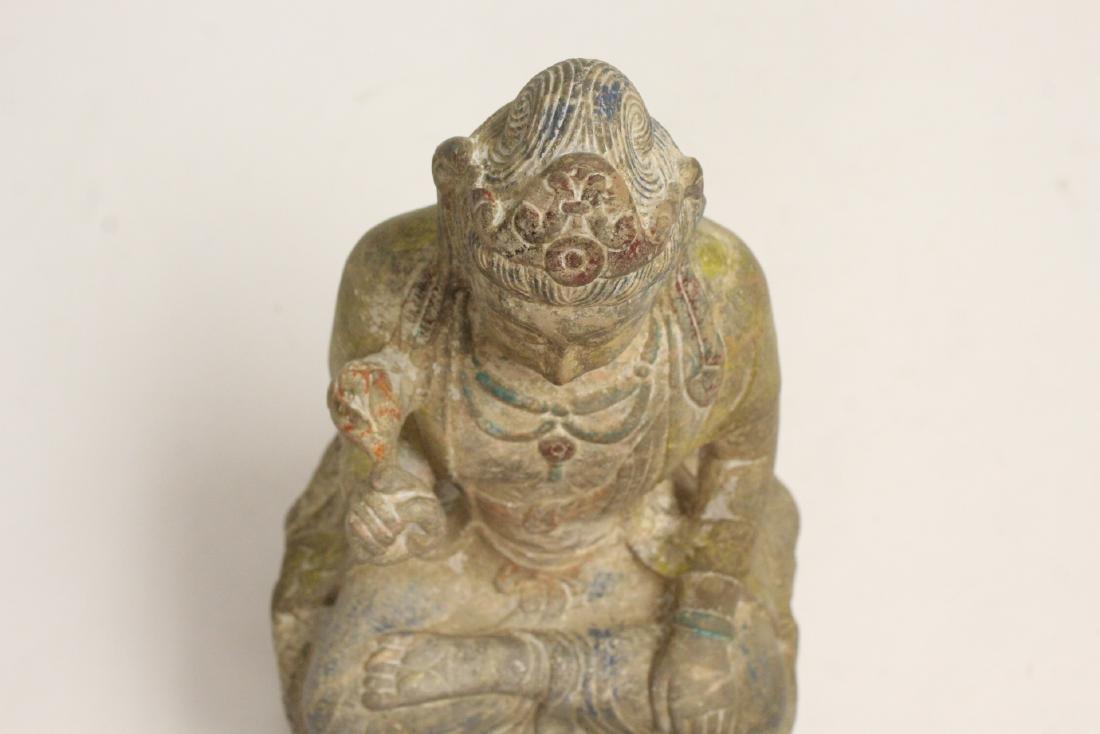 Chinese stone carved seated Buddha - 2