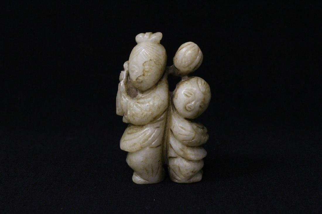 Chinese white jade carved figure