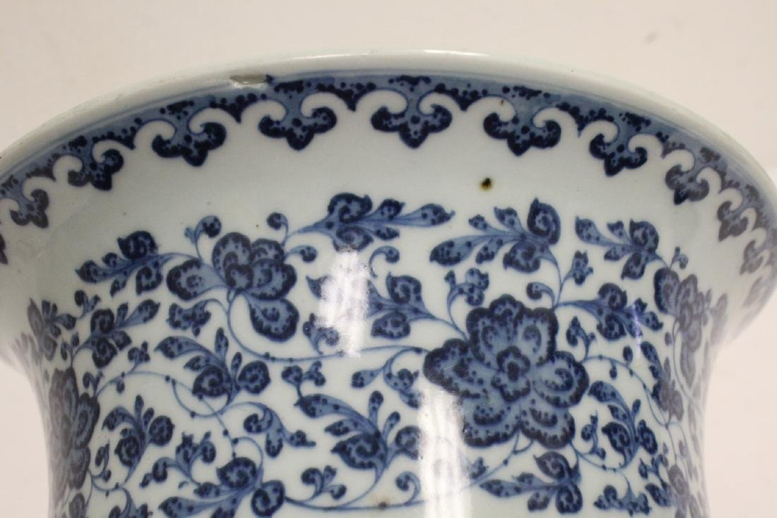 Chinese vintage blue and white planter - 7