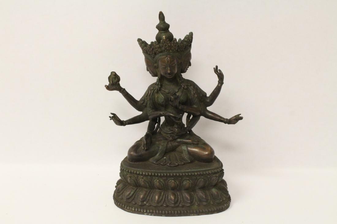 Bronze sculpture of Buddha
